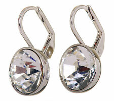 Swarovski Elements Crystal Brilliance Bella Mini Pierced Earrings Rhodium 7172a