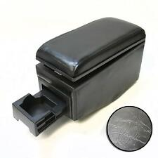 Black Leather Armrest Console Cup Holder For Ford Connect Courier Focus
