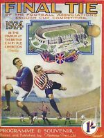 FA CUP FINAL 1924 REPRINT: Aston Villa v Newcastle Utd