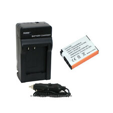 Battery + Charger Kit for Fuji NP48 NP-48, Fujifilm XQ1