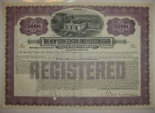 $50,000 New York Central & Hudson River Railroad Company Bond Stock Certificate
