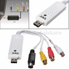 USB 2.0 Video Audio VHS RCA to DVD Converter Capture Card Adapter for Win 7 Mac