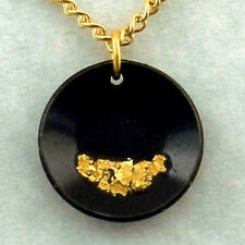 Gold Pan Necklace flakes of pure Gold, miner jewelry
