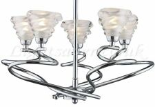 SPIRA 5 ARM POLISHED CHROME CEILING LIGHT! LIQUIDATED STOCK CLEARANCE! THIRD MRP