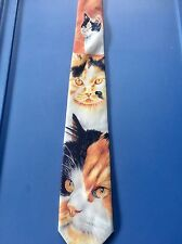 CUTE & COLORFUL CATS & KITTENS NOVELTY RALPH MARLIN NECKTIE - 'CALICO CATS'