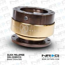 NRG Gen 2 Steering Wheel Quick Release Bronze + Chrome Gold Ring SRK-200BR/CG