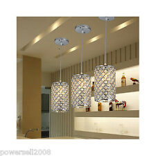 Luxury K9 Crystal Chandelier Linghting E27 Energy Saving Silver Pendant Lights