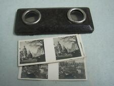 Antique Stereoview Viewmaster 3D 4 juguetes Photos paya