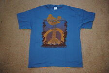 WOODSTOCK FESTIVAL ROLL CALL T SHIRT XL NEW OFFICIAL SANTANA WHO BAND CSNY BAEZ