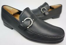 Salvatore Ferragamo Navarro Bit Men's Black Loafers Shoes Size 9.5 EE 2E
