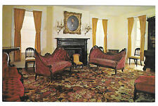PA Hopewell Village Parlor of the Big House Vintage Walter H. Miller Postcard