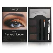 Cameo Cosmetics Perfect Brow- Dark Brown Eyebrows, Brush,Stencils, Tweezer,Brush