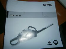 STIHL HS81 - HS 81 taille haie : notice d'emploi