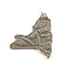 Bettelarmband Anhänger Wappen New York Map Souvenir RAR Charm (364-5)