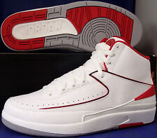 Nike Air Jordan 2 II Retro Chicago Bulls White Varsity Red SZ 8 ( 385475-102 )