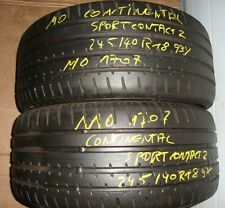 AUDI BMW MERCEDES Continental sportcontact 2 245/40 r18 93y Mo 1707 environ 4-4,5mm **