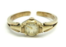 Vintage BULOVA 10K Gold RGP L5 Winding 6BL Swiss 17Jewel Mechanical Bangle Watch