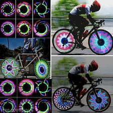 Colorful Bicycle Motorcycle Bike Cycling Tyre Tire Wheel Valve 32 LED Light Lamp