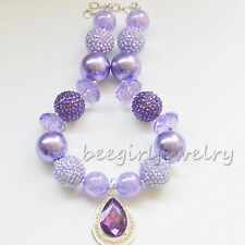 Sofia The First Bubblegum Bead Necklace for Girls, chunky Gold BirthdayCB684