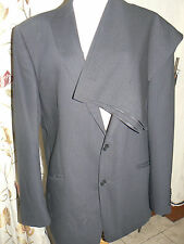 "Mens Dark Grey Pinstripe Suit Chest 44"" Waist 40"" by Marks and Spencer"