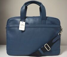 Coach Hudson Smooth Leather Briefcase Bag in Denim Blue F71561