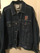Harley-Davidson Warner Bros Taz Rough Riders Jean Jacket Mens Size Medium