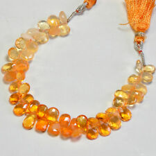 "Shaded Mexican Fire Opal Faceted Pear Briolette Beads 5.8"" Strand"