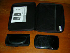 3 CASES:Leather Carrying Sylvania Digital Video Camera DV1100 Cell Mobile Phones