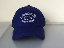 Lacoste Roddick 2016 Fall New 1927 Lacoste EMB Hat Cap $50 NWT Royal Blue