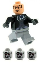 REDUCED Alfred the Butler Minifig & 3 Zombie Heads Printed on LEGO Parts Custom