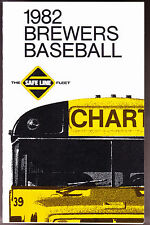 1982 MILWAUKEE BREWERS SAFE LINE BUS CO. BASEBALL POCKET SCHEDULE FREE SHIPPING