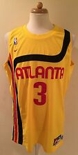 Rare NBA Nike Throwback Atlanta Hawks Shareef Abdur-Rahim Basketball Jersey XL