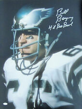 "Bill Bergey  Signed 16x20 - Philadelphia Eagles - ""4 Time Pro Bowl"" Inscription"