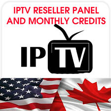 BECOME AN IPTV RESELLER - PANEL WITH 25 CREDITS - CAN / USA / INTL / PPV
