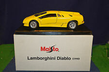Lovely Maisto Yellow Lamborghini Diablo 1990 1:18 Scale With Free Box RD6074