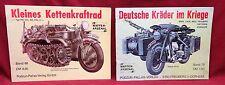 2 Book Lot-Kleines Kettenkraftrad/Deutsche Krader im Kriege