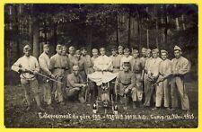 cpa Carte Photo CAMP de BITCHE SOLDATS du 39e Régiment d'Artillerie Divisionnair