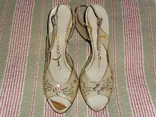 Womens Heels Shoes Size 5.5 Vintage ACCENT 50's Princess Lucite Rhinestone