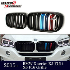 For BMW F16 X6 Series F15 X5 Matte Black X5M Dual Slat M Color Front Grille Gril