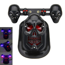Motocicleta Skull Turn Signal Rear Brake Tail Light For Harley Bobber Honda