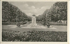 Rostock, Rosengarten mit VVN-Ehrenmal, DDR-Ansichtskarte von 1955