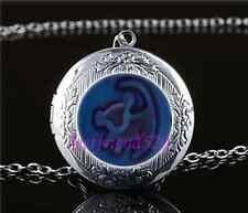 Lion King Photo Cabochon Glass Tibet Silver Chain Locket Pendant Necklace