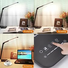 8W 60 LED Light Folding Desk Table Reading Book Lamp Touch Sensor +Power Adapter