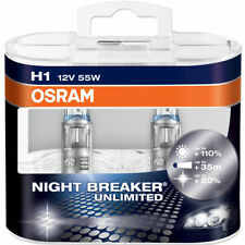 OSRAM NIGHTBREAKER UNLIMITED H1 HEADLIGHT BULBS (TWIN PACK) 110% BRIGHTER *NEW*