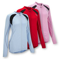 JDC Ladies Womens Cycling Jersey Top T-Shirt - Long Sleeve - Blue Red Pink
