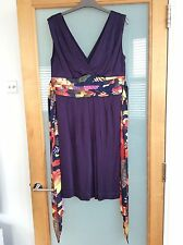 Ted Baker Bede Purple Dress With Floral Tie : Size 12