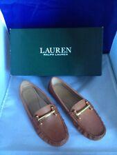 Lauren Ralph Lauren Women's Caliana Driver Tan Casual Shoes NIB New Sz. 5.5 B