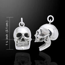 Oberon Zell Moveable Skull .925 Sterling Silver Pendant by Peter Stone