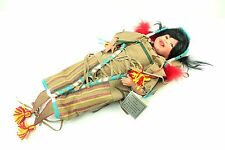 Kowa Papoose by Nancy Leslie Porcelain Native American Indian Doll Danbury Mint
