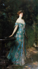 Beautiful oil painting Noblwoman Millicent Duchess of Sutherland in landscape